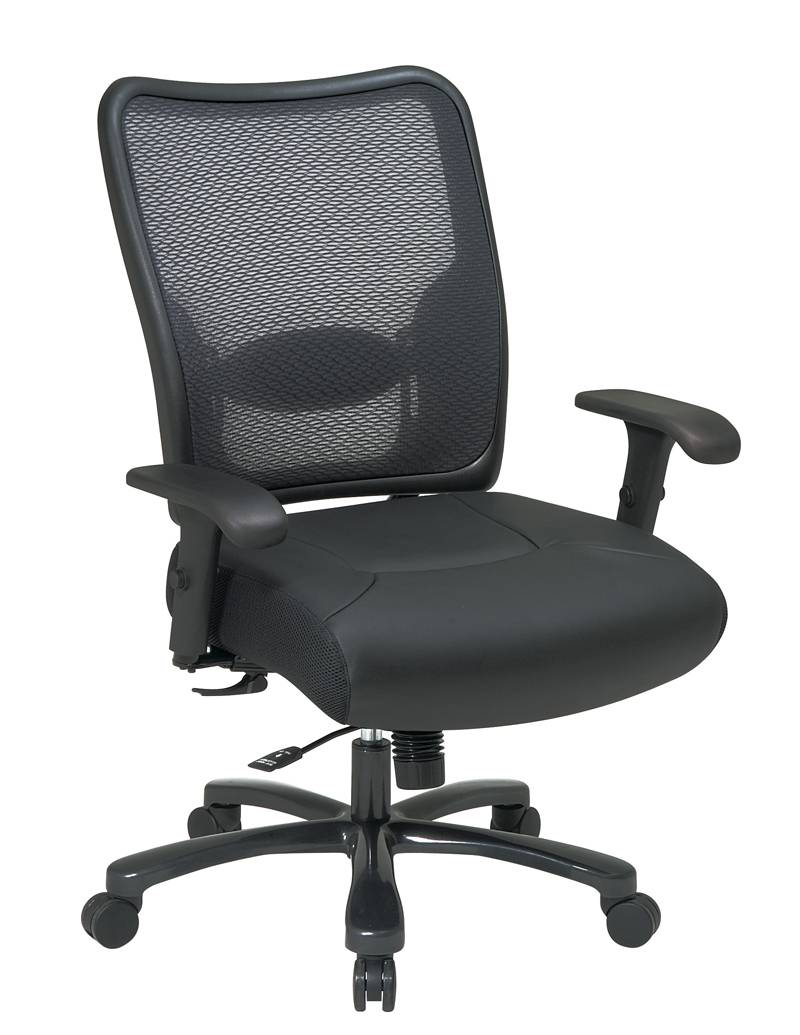 big man 39 s double airgrid back ergonomic chair with built in adjustable lumbar support big and. Black Bedroom Furniture Sets. Home Design Ideas