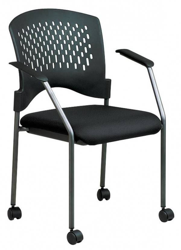 Stackable Guest Chair With Casters Free Shipping