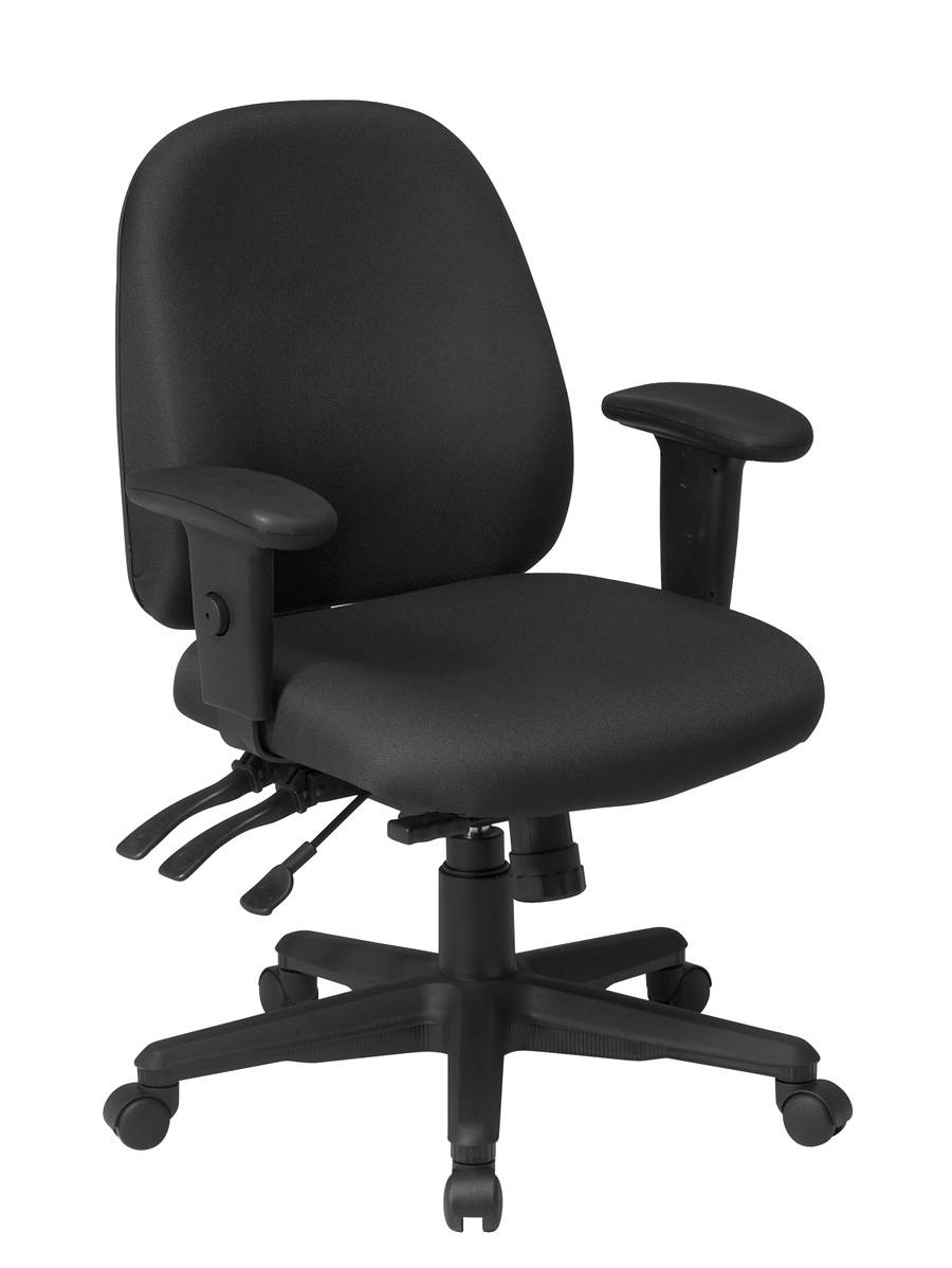 Ergonomics Chair With Ratchet Back And Adjustable Soft Padded Arms Multi Fun