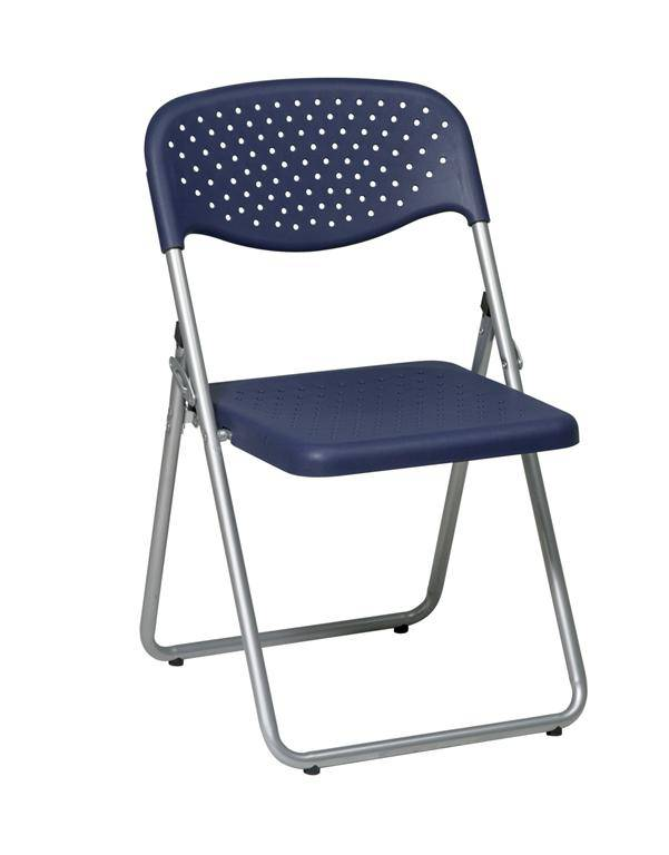 Folding Chair With Plastic Seat And Back 4 Pack