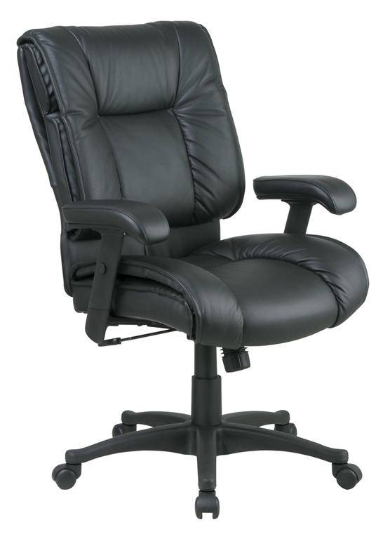 Deluxe Mid Back Executive Leather Chair Free Shipping