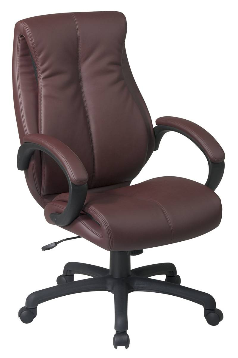 Deluxe High Back Executive Leather Chair With Pillow Top