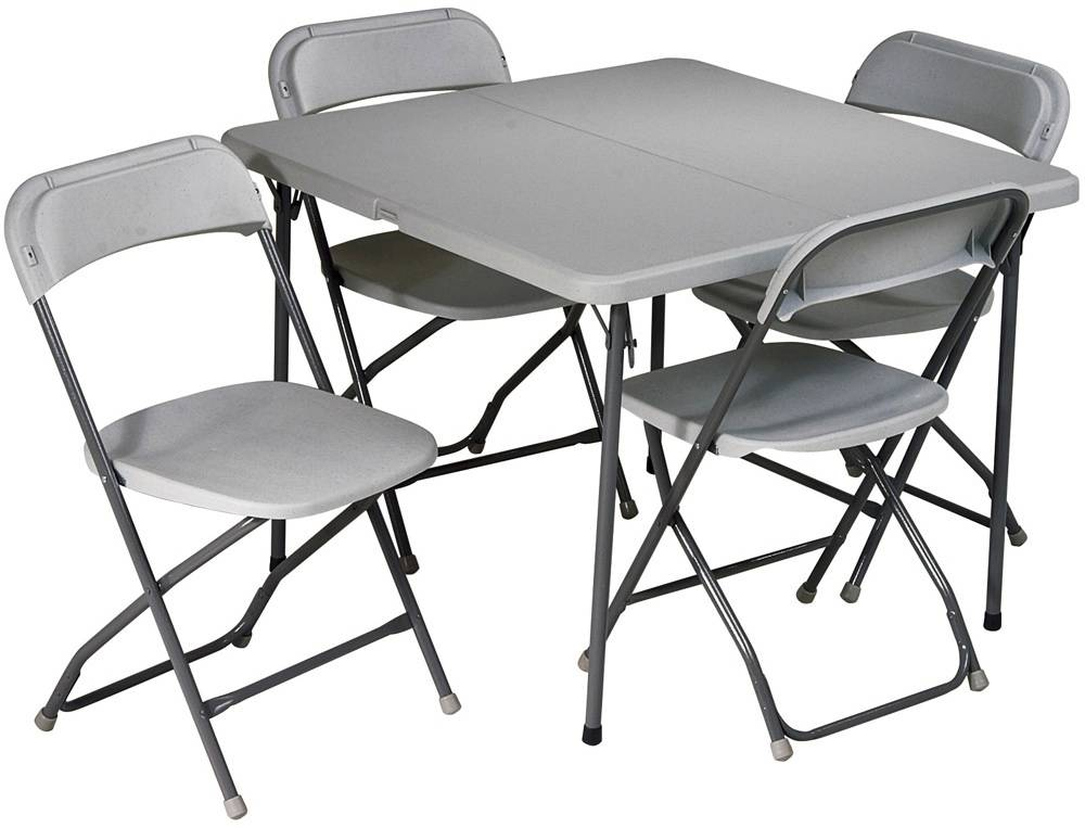 Office star 5 piece folding table and chairs set sd for Table and chair set