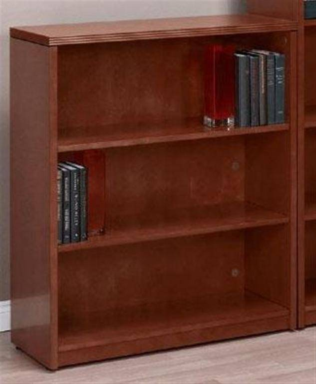 Kenwood 3 Shelf Bookcase Open Hutch 42 Inch Mahogany Or