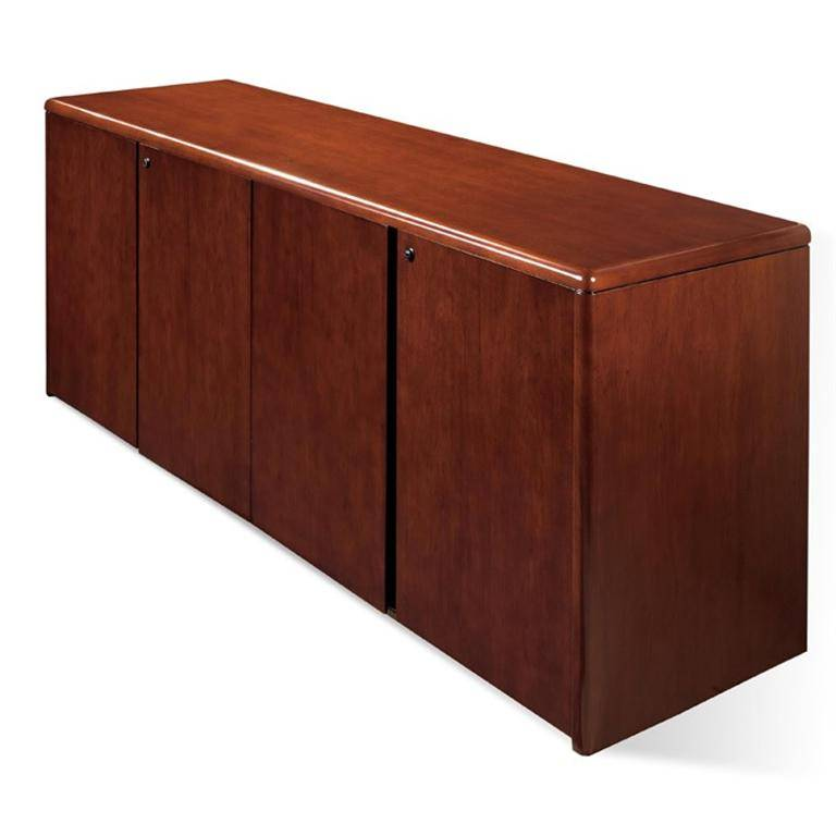 Sonoma 4 Door Storage Credenza 72x20 Dark Cherry Wood