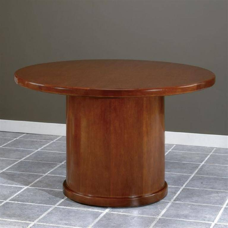Sonoma 42 Inch Round Conference Table Dark Cherry Wood Free Shipping