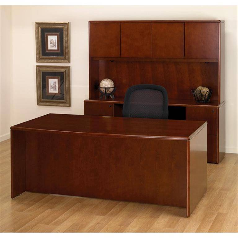 sonoma executive office desk suite in dark cherry wood free shipping