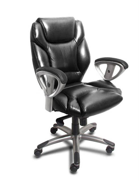 Mayline Ultimo Leather Series 300 Mid Back Chair Free