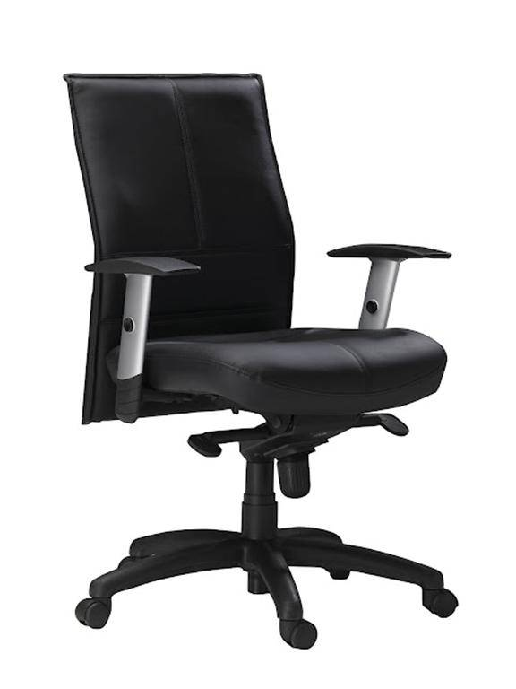 Mayline Mercado Leather Series Silhouette Mid Back Chair