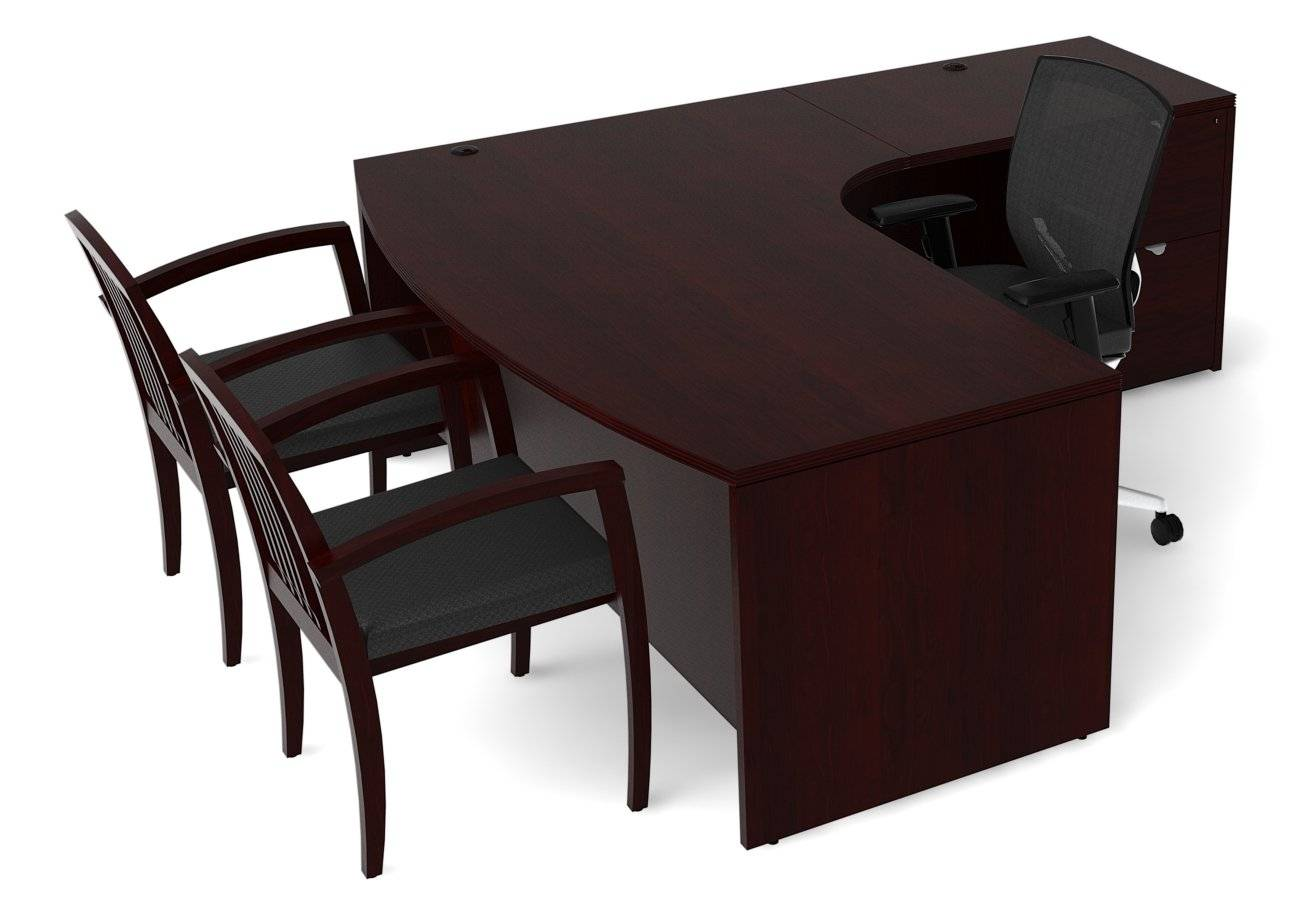 Cherryman Jade Series 71 75 Quot X66 78 Quot Curved Bow Front L Shape Desk Free Shipping