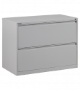"Office Star - OSP 42"" Wide 2 Drawer Lateral File With Lock & Adjustable Glides"