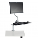 Ergonomic Accessories - Sit to Stand Risers - Safco - Monitor/Keyboard Stand
