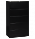 "Filing  - Metal Filing Cabinets - Office Star - OSP 36"" Wide 5 Drawer Lateral File With Lock & Adjustable Glides"